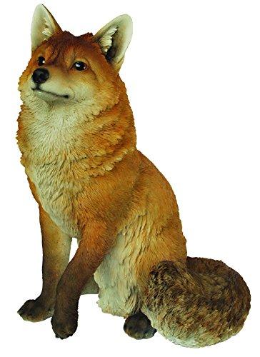Vivid Arts XRL-SFOX-A Large Sitting Fox Resin Ornament