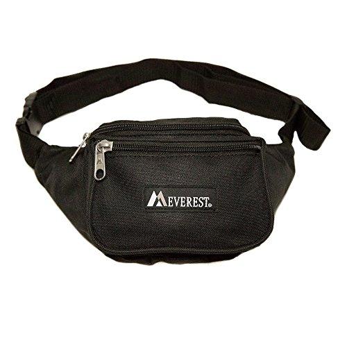 Everest Signature Waist Pack-Standard, Black, One Size
