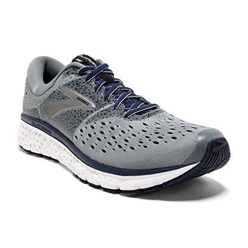 Brooks Mens Glycerin 16 Running Shoe - Grey/Navy/Black - D - 10.0