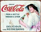Coca-Cola-Thru UNE Paille Placa en M # 233; Tal 32x 16H