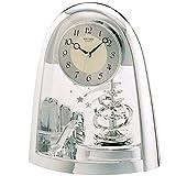 Rhythm Cont Horloge de cheminée Arched Top/carnet à pendule-Argent