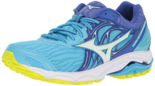 Mizuno Women's Wave Inspire 14 Running Shoe, Aquarius/White, 6 B US
