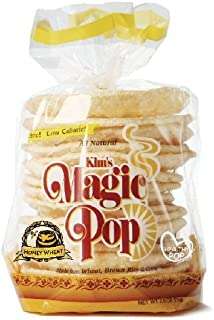 Kim's Magic Pop Honey Wheat Flavor 12-Pack: Freshly Popped Rice Cakes, Healthy Grain Snack, 0 Weight Watchers Point