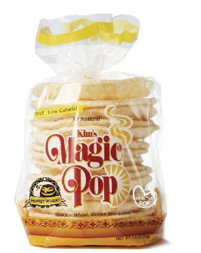 Kim's Magic Pop Freshly Popped Rice Cakes | Keto | Honey Wheat Flavor | 12 Pack | Low Carb, Sugar Free, Fat Free, Natural, Multigrain Korean Snack | Easy Bread, Chip, Cracker Replacement
