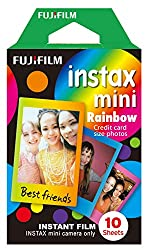 Credit card sized instax mini film, print size 54 (W) x 86 (H), image size 46 (W) x 62 (H) mm Suitable for all instax mini cameras and SHARE SP-1 and SP-2 printers instax film technology ensures sharp, clear, vivid colour and natural skin tones repro...