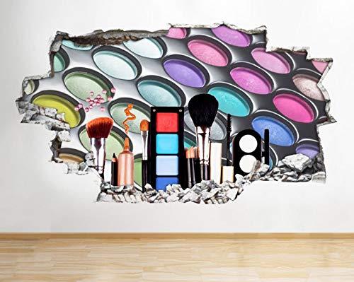 Q385w oogschaduw kleuren ogen stijl versnipperd muursticker 3D kunst sticker vinyl kamer