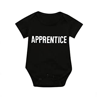 7dda23a056a8 NUWFOR Toddler Baby Short Sleeve Letter Romper Playsuit Tops Matching  Family Clothes