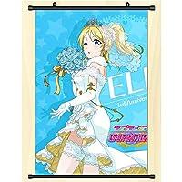 ポスター日本のアニメ壁掛け軸絵画アート漫画家の装飾ファンギフト Lovelive! 50x75cm