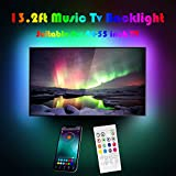 13.2Ft LED Strip Lights for 32-75 inch TV,Waterproof RGB USB Powered TV Led Backlight with APP Control,TV Led Back Light Kit for Flat Screen TV,PC,CAR