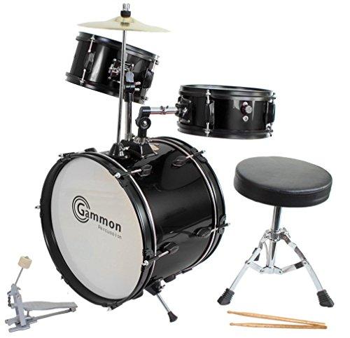 Drum Set Black Complete Junior Kid's Children's Size...
