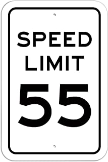 Graphics and More Plastic Sign Speed Limit 55-6