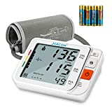 Blood Pressure Monitor Upper Arm, Accurate Automatic Digital Blood Pressure Machine for Home Use with Wide-Range Cuff, Large LCD Display, 2 * 120 Memory, 4*Battery