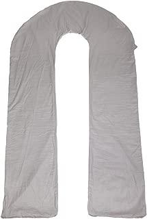 Meiz Full Pregnancy Pillow Cover - Body Pillow Case - 300TC Comfy Cotton Pillowcase - Fit 65