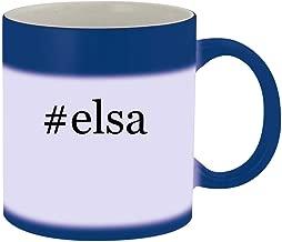 #elsa - Ceramic Hashtag Blue Color Changing Mug, Blue