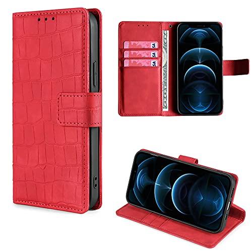 HUAYIJIE GKFGEY Klapphülle für Energizer Hardcase H570S Hülle Handy Ständer Cover [rot]