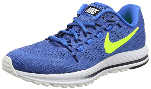 Nike Men's Air Zoom Vomero 12 Running Shoes, Blue (Star Blue/Italy Blue/Obsidian/Volt), 7 UK 41 EU