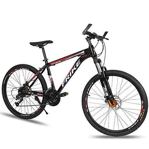 """AI-QX Bici Bicicletta MTB Mountain Bike 26"""" Pollici Full Susp Biammortizzata, Doppio Ammortizzatore, 30V, Telaio Alluminio, Freni a Disco,B"""