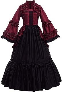 GRACEART Women's Victorian Dress Renaissance Rococo Ball Gown (Dress with Hoop Skirt)