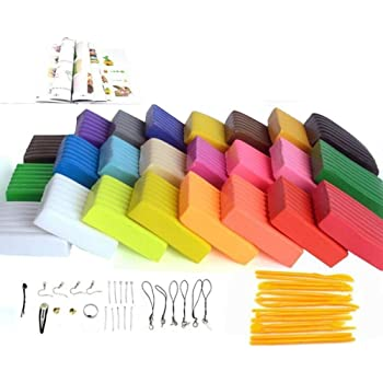 Oytra 24 Color Polymer Clay Oven Bake Set DIY Modeling with Tools Set and Accessories
