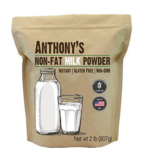 Anthony's Non Fat Milk Powder, 2 lb, Instant, Gluten Free & Non GMO