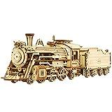 Robotime 3D立体パズル 木製パズル 木製 レーザーカット ギア ミニチュア オモチャ 知育玩具 男の子 女の子 大人 入園祝い 新年 ギフト 誕生日 クリスマス プレゼント 贈り物(れっしゃ)