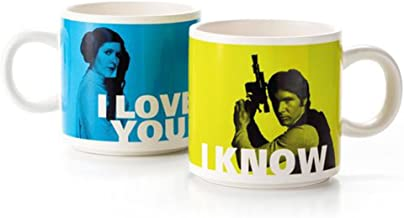 Han Solo and Princess Leia Stacking Mug Set Mugs Sci-Fi