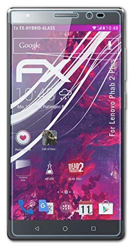 atFoliX Lámina Protectora de plástico Cristal Compatible con Lenovo Phab 2 Plus Película Vidrio, 9H Hybrid-Glass FX Protector Pantalla Vidrio Templado de plástico