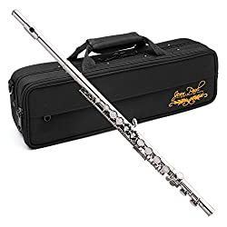 Jean Paul USA Silver Plated Flute (FL-220) - Best Flutes for Beginner and Intermediate Students