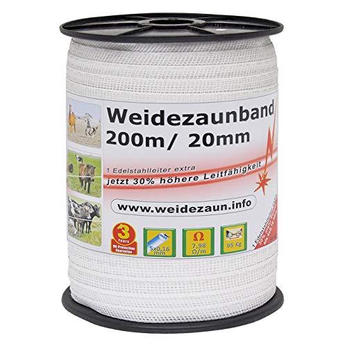 VOSS.farming NEU: Sparpack – Weidezaunband mit 30% mehr Leitfähigkeit – insgesamt 800m + Elektro-Zaun-Band-Zubehör - 2