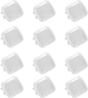 SUPVOX 6pcs en Plastique Mini bo/îte de Rangement Clair Vide carr/ée Transparente avec Couvercle pour Perles Bijoux Boucles doreilles Petites Choses 8.6x7.6x1.2cm