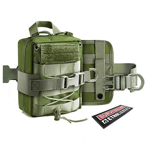 ETROL Tactical Taillentaschen, Multifunktion Upgrade Toolkit - Molle EDC-Tasche mit Kopfhörerloch - Tragbare universelle Taillentasche für Sport, Camping, Wandern, Angeln, Reisen