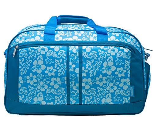 foolsGold Borsone Floreale con Tasca per Le Scarpe - Blu