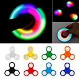 PrimeTrendz LED Light Hand Spinner with Switch Plastic EDC Hand Spinner for Autism and ADHD Relief Focus Anxiety Stress Toys Gift