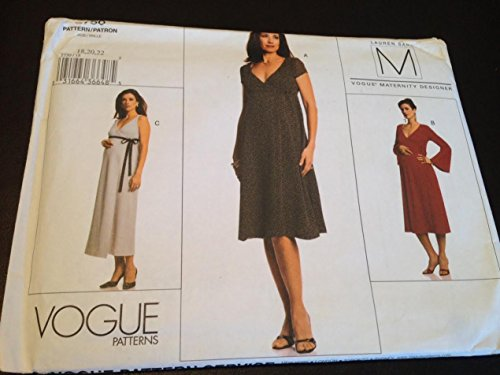 Vogue 2750 Sewing Pattern, Misses' Maternity Dress, Size 18,20,22