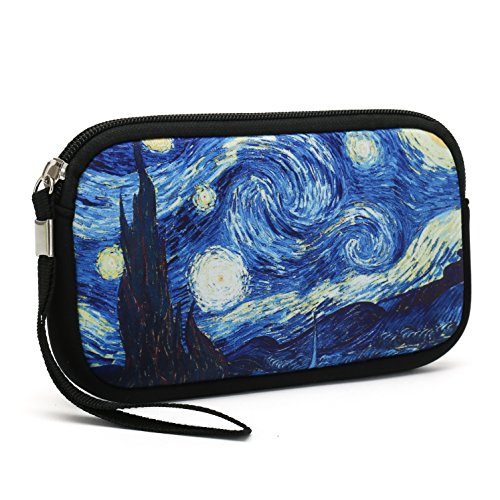 Unisex Portable Washable Travel All Smartphone Wristlets Bag Clutch Wallets, Change Purse,Pencil Bag,Cosmetic Bag Pouch Coin Purse Zipper Change Holder With Strap (Hurricane)