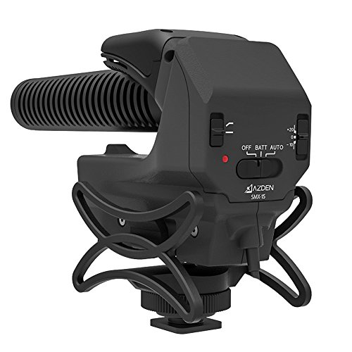 AZDEN 一眼レフ用マイク SMX-15 モノラル式 超指向性 ショックマウント・風防付属 単三型乾電池二本使用