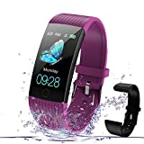 Fitness Watches for Women, Fitness Tracker with Heart Rate Monitor, Smart Watch for Kids with Step Tracker, Calorie Counter, Pedometer, IP67 Waterproof Smart Watch for Kids, Women, Men… (Purple)