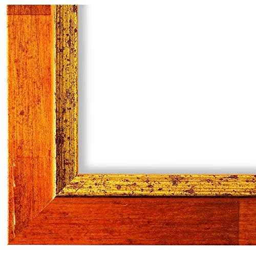 Online Galerie Bingold Bilderrahmen Orange Gold 30x40-30 x 40 cm - Modern, Shabby, Vintage - Alle Größen - handgefertigt - WRF - Catanzaro 3,9