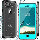Nineasy for iPhone 8 Plus Case, iPhone 7 Plus Case, iPhone 8 Plus & 7 Plus Waterproof Case with Built-in Screen Protector,Full Body Heavy Duty Shockproof Clear Case for iPhone 8 Plus & 7 Plus 5.5inch