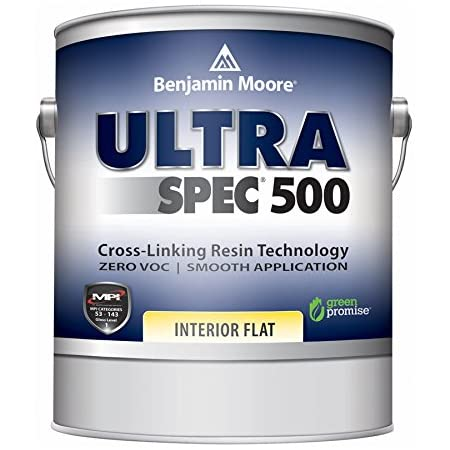 Benjamin Moore Ultra Spec 500 Interior Paint - Flat Finish (Gallon, White)