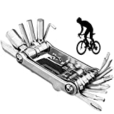 EastMetal Multiherramienta Bici, Mini Aleación Alta Dureza Kit Herramientas Bicicleta Plegable, 30-in-1 Equipo de Equitación Portátil Set, para Bicicleta de Carretera y Montaña, CR-V,Plata