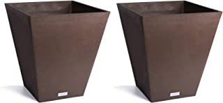 Veradek Nobleton Planter - 2 Pack 18 inches Height (Espresso)