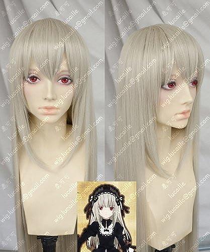 nueva gama alta exclusiva Peluca cosplay de la peluca de de de Cosplay Rozen Maiden Suigintou de Rozen Maiden Lincoln resistente al calor  ventas al por mayor