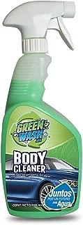 Green Wash 3 Body Cleaner Lavado En Seco para Autos y Camionetas, Ecológico Lava Y Encera Tu Auto Sin Usar Agua con Cera de Carnaúba. 760 ml. Compra Esta Botella y Ahorra mas de 500 litros de Agua.