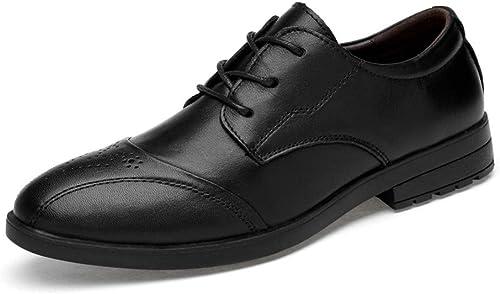 XHD-Chaussures Chaussures pour Hommes Hommes Hommes Confortables et Confortables, Style décontracté, Style Simple, Chaussures Classiques à Bout Rond (Couleur   Noir, Taille   45 EU) bc5