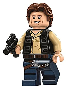 LEGO Star Wars Minifigure from Death Star - Han Solo Wavy Hair with Blaster  75159
