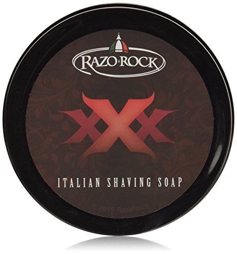 RazoRock XXX Italian Shaving Soap: Artisan Made Shaving Soap for Men - Tallow Based Shave Cream Soap for Wet Shaving - Rich, Creamy Lather and Classic Italian Barber Shop Scent - 5 Fl Ounces (150 milliliters)