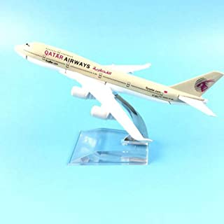 NKJWHB Plane Model Airplane Model Qatar Airways Boeing 747 Aircraft Model 1:400 Diecast Metal Airplanes Plane Toy
