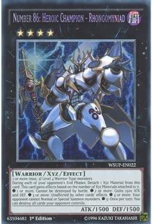 Deckboosters YuGiOh : WSUP-EN022 1st Ed Number 86: Heroic Champion - Rhongomyniad Secret Rare Card - ( World Superstars Yu-Gi-Oh! Single Card)