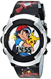 Pokemon Boys' Quartz Watch with Plastic Strap, Black, 16 (Model: POK3018-AAZ)